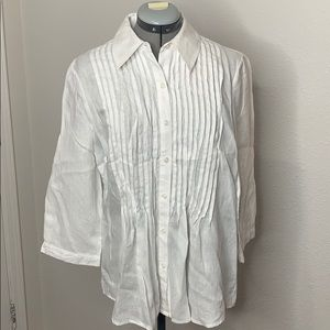 Coldwater creek white button up